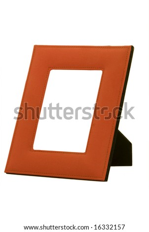 Photo frame with isolated white background, and middle removed for addition of photo