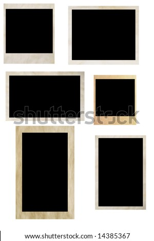 photo frames isolated on white (series)