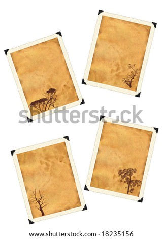 Photo framework retro isolated on a white background. - stock photo