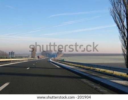 Photo from moving car. Roads in European Union.