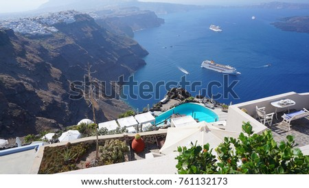 Photo from one of the most famous views in the world, Santorini island, Cyclades, Greece