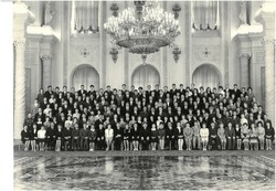 Photo from the 15th Congress of the Komsomol, which took place in the Kremlin in May 1966.