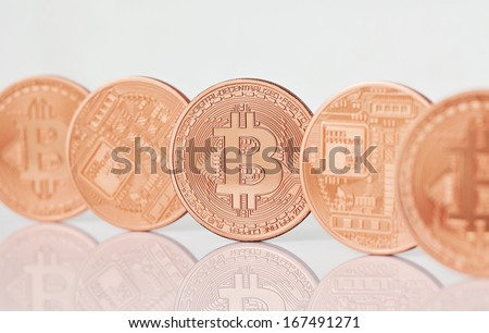 Photo .Golden Bitcoins (new virtual money )