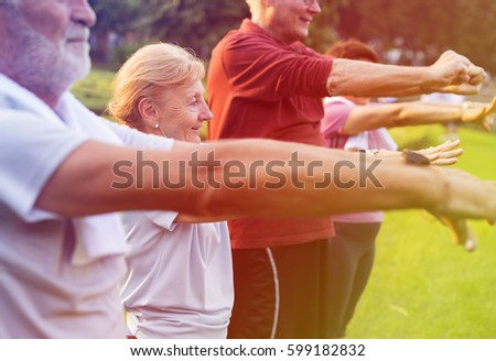 Photo Gradient Style with Senior Adult Exercise Fitness Strength #599182832