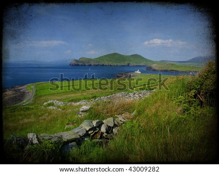 photo grunge texture beautiful scenic irish landscape