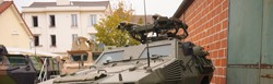 Photo in banner format of a Light Armored Car (
