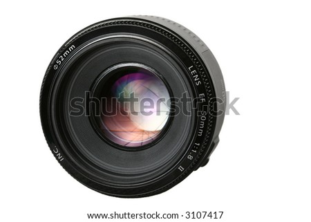 Photo lens with umbrella reflection