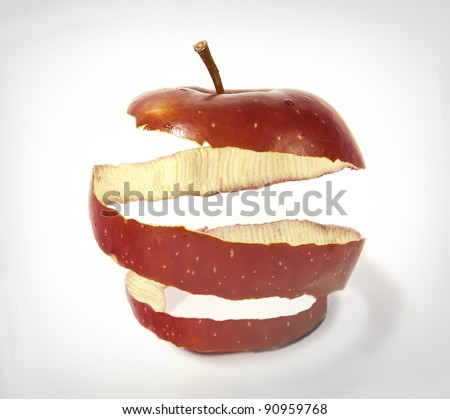 photo manipulation of apple skin