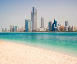 Photo metropolis on the gulf coast in Dubai