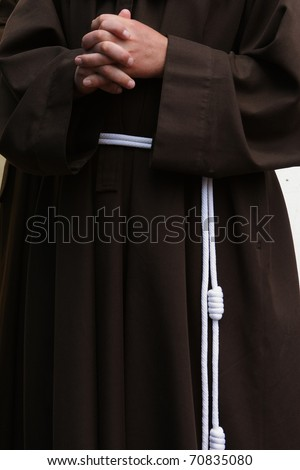 photo monk at morning prayer