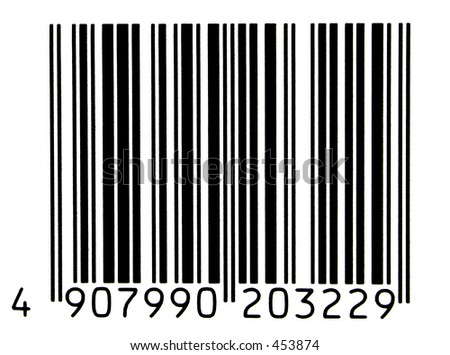 photo of a authentic bar code