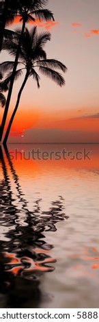 photo of a beautiful orange sunset over ocean