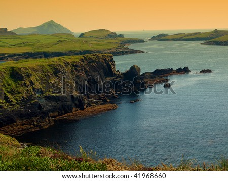 photo of a beautiful scenic irish landscape