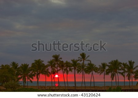 photo of a beautiful  sunset over the ocean
