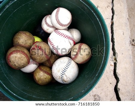 Baseballs in a Bucket Images and Stock Photos - Page: 3