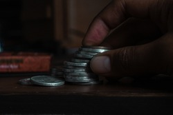 photo of a bunch of coins, rupiah currency