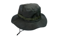 Photo of a bush hat or jungle hat or fishing hat isolated white background