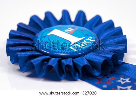 Photo of a First Place Ribbon / Blue Ribbon - stock photo