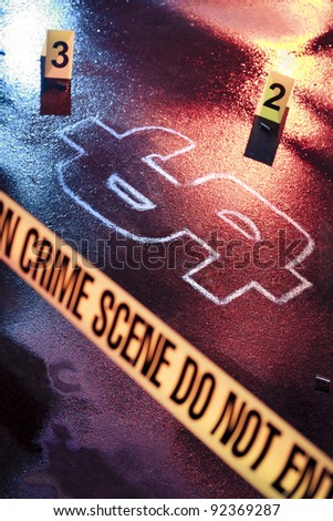 photo of a fresh crime scene with money as a victim