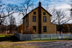 Photo of A Gettysburg Civil War Farmhouse, Gettysburg National Military Park, Pennsylvania USA