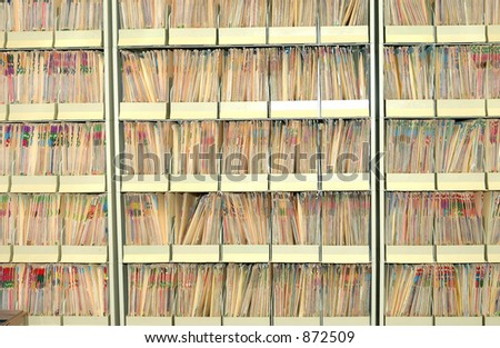 Photo of a Medical Files