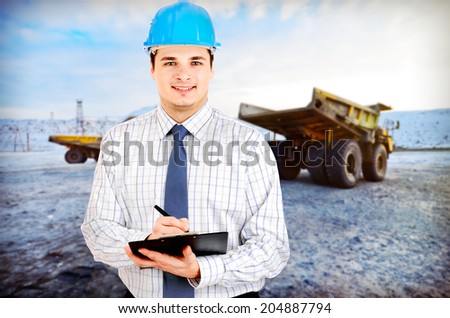 Photo of a mining engineer