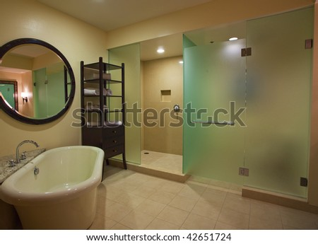 photo of a modern luxury bathroom