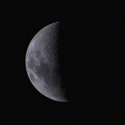 Photo of a moon using 300mm zoom lens