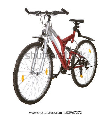 Photo of a mountain bike. Isolated on white #103967372