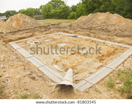 photo of a new house foundation