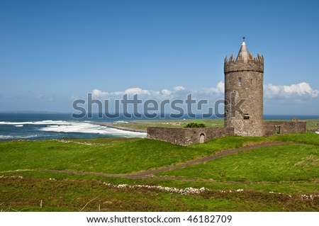 photo of a old irish castle in the west of ireland
