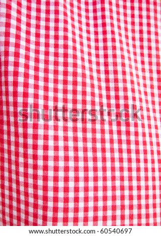 photo of a red and white checkered fabric