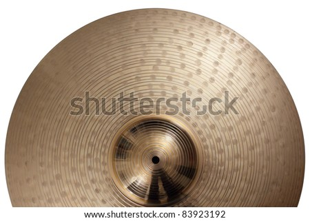 Photo of a ride cymbal as a background.