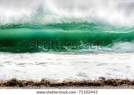 Photo of a rolling wave caught at The Wedge, Newport Beach, California
