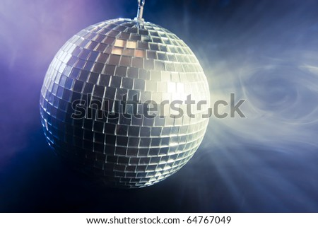photo of a shinny disco ball