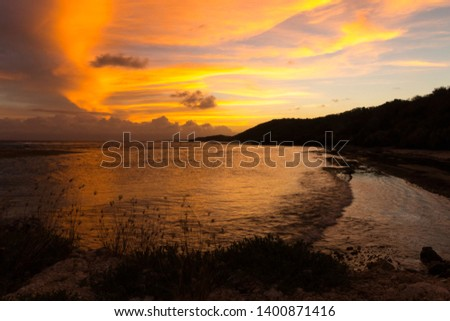 photo of a sunset in Guadeloupe