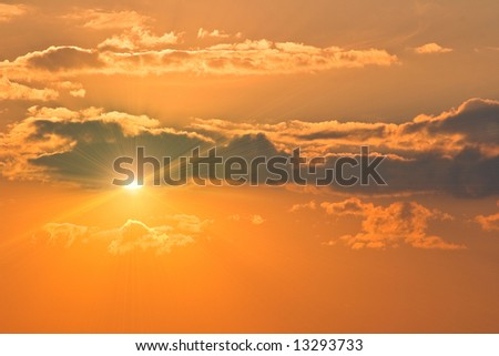 Photo of a sunset. The image can be applied as a background. #13293733