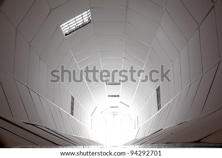 Photo of a white tunnel