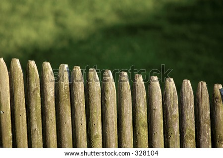 Photo of a Wooden Fence