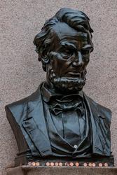 Photo of Abraham Lincoln's Gettysburg Address Memorial, Gettysburg National Cemetery, Pennsylvania USA