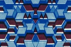 Photo of an African fabric, geometric pattern
