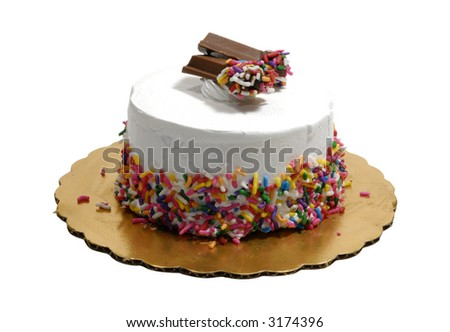 Photo of an Ice Cream Cake - Isolated on White