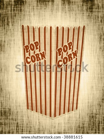 photo of an old popcorn box abstract