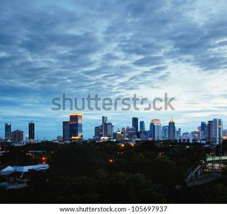 Photo of Bangkok at night. Thailand.