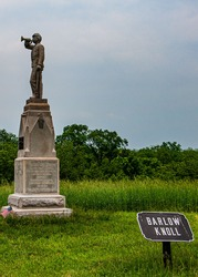 Photo of Barlow Knoll and The153rd Pennsylvania Infantry Monument, Gettysburg National Military Park, Pennsylvania USA