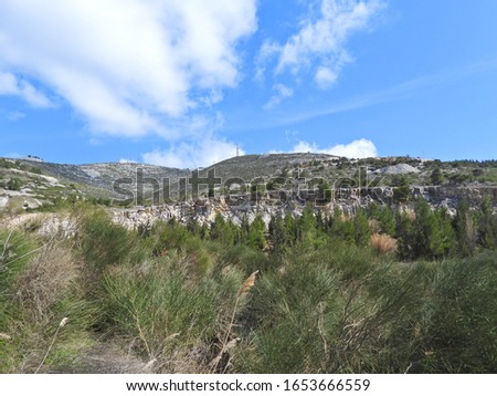 Photo of beautiful nature in mount Penteli, Attica, Greece Foto stock ©