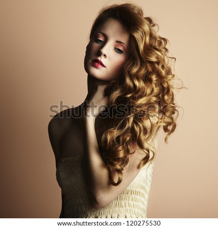 Photo of beautiful young woman. Vintage style. Fashion photo