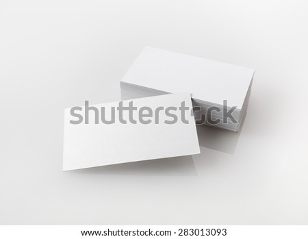 Photo of blank business cards. Template for branding identity for designers.