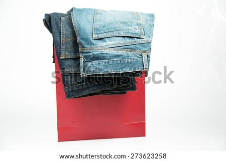 Photo of  Blue Jeans isolated on white.  #273623258