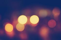 Photo of bokeh lights on black background